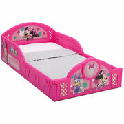 Toddler Kid Bed Frame Plastic Sturdy Minnie Mouse Colorful For Little Girls New
