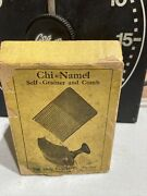Vintage 1900's Chi-namel Self Grainer And Comb W/ Original And Box .style No. 1
