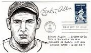 Baseball Ethan Allen Autographed '83 Babe Ruth Fdc Anderson Hand Drawn
