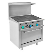 36 Inch Commercial Gas Range Charbroiler With 1 Oven R36-cb Free Shipping