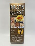 Brain Quest Grade 7, 1500 Questions And Answers To Challenge The Mind 4th Edition