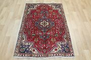 Old Handmade Persian Rug, Floral Design 145 X 98 Cm Hand Knotted Wool Rug