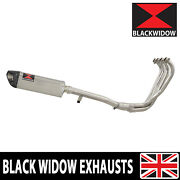 Gsx600f Gsx750f 88-97 Exhaust System Tri-oval Stainless + Carbon Silencer Sc35t