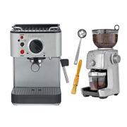 Cuisinart Em-100 Stainless Steel Espresso Maker With Conical Burr Coffee Grinder