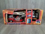 New Vintage 1990 Power Boom Fire Truck Toy State Morton Grove Fire Dept