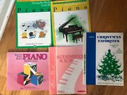 Lot Of 5 Alfred's Basic Piano And Bastien Used Lesson Books Levels 1,2,3