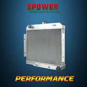 At Spawon 40mm For Jeep Cj Series 1970-1985 Chevy V8 2row 1919 Aluminum Radiator