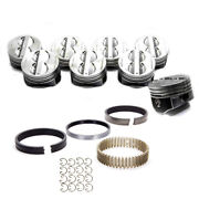 Sbc Chevy 350 Flat Top Pistons 4 Vr Cast Rings And Lr63 Lock Rings All Sizes