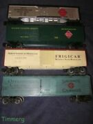 Lionel Freight Cars Lot Of 4 Reefers Refrigerator Cars Nice