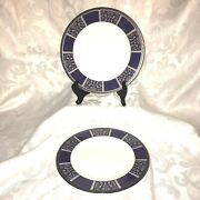Royal Doulton 'byron' Accent Luncheon Plates - Set Of 2