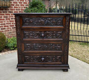 Antique French Chest Of Drawers Renaissance Revival Oak Shields Knights Lions