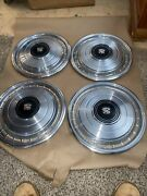 1970s Cadillac 15 Inch Wheel Covers Hub Caps Set Of 4 Used