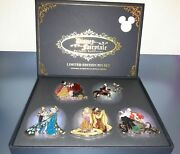 Thompson Signed 5 Disney D23 Expo Fairytale Designer Collection Pin Set Le1000