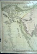 Egypt 1808 Antique Map By C. Smith Showing The Nile Delta Villages And Town
