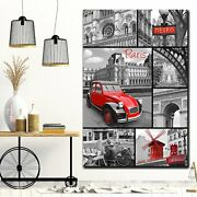 Paris Collage Cities Monuments And Bridges Canvas Art Print For Wall Decor