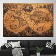 The Original Old World Map Antique And Vintage World Maps Canvas Art Print For W