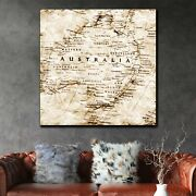 Old Map Of Australia Antique And Vintage World Maps Canvas Art Print For Wall De