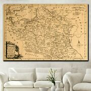 Vintage Map Of Poland Antique And Vintage World Maps Canvas Art Print For Wall D