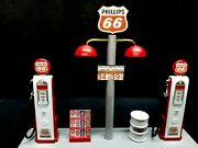 Phillips 66 Gas Pump Island Display W/gas Price Sign, 118th, Hand Crafted,