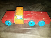 Vintage Antique 1935 Superior Toys Delivery Truck Toy Metal And Wooden Tin Wood