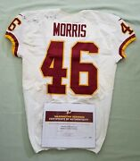 46 Alfred Morris Of Redskins Nfl Game Worn And Unwashed Jersey Vs Cardinals Wcoa