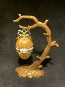 Egg On Tree Limited Edition Trinket Box By Keren Kopal And Austrian Crystals