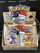 Pokemon Fossil Theme Decks Bodyguard And Lockdown Sealed Boxes And Display Box. Rare
