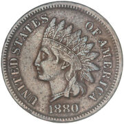 1880 Indian Head Cent Extra Fine Penny Xf