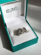 Effy Jewelry Super Buy 14k White Gold And Baguette Diamond Link Ring 6.75