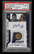 Psa 10 2010 Playoff Contenders Patches Auto 110 Paul George Rookie Rc Tough