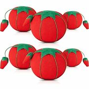 6 Pieces Tomato Pin Cushion Sewing Needle Holder With Foam For Diy Handcraft