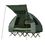 2-person Compact Portable Pop-up Tent Camping Cot W/ Air Mattress And Sleeping Bag