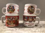 Lot Of 4 Vintage Campbell's Soup Mugs Cups Bowls