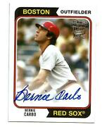 Bernie Carbo Boston Red Sox 2020 Topps Archives Fan Favorite Oncard Autograph