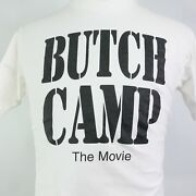 Vtg Butch Camp The Movie Swish In March Out White Single Stitch Usa T Shirt Sz L