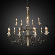 43 Chandelier Iron In Antique Rustic Color Iron + Wood