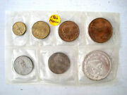 1966 Mexico Coin Set Centavos Lot Of 7 All Different Denomination Fast Shipping