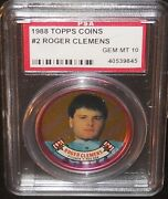 Psa 10 Gem Mint 10 - Roger Clemens 1988 Topps Coins Card Boston Red Sox