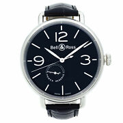 Bell And Ross Ww1 Power Reserve Steel Black Dial Automatic Watch Brww197-bl-st/scr