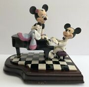 Rare Walt Disney Musical Collectibles Piano Bar Numbered By Schmid Damaged