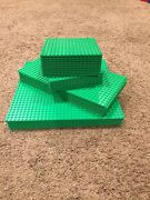 Lego Bright Green Baseplate Lot Of 40 16x16, 16x32 And 32x32 Studs Base Plates.