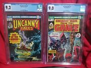 💥uncanny Tales From The Grave💥 Cgc Lot - 2 9.2 And 4 9.0. Marvel Horror 1974