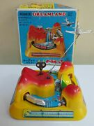 Vintage Tps Japan Mechanical Dreamland With Bell Wind Up Toy 1960's Orig. Box