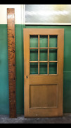 Salvaged Interior Wood Door With 9 Lites Solid Church Vintage W/o Hardware 36