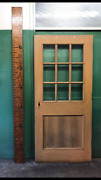 Salvaged 36 Interior Wood Door With 9 Lites Solid Church Vintage W/o Hardware