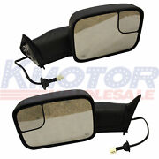 Tow Mirror Power Heated Telescoping Fit For 98-01 Dodge Ram 1500/98-02 2500 3500