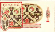Small Collection Of Eight Salesman's Sample Booklets For Cuban Cigar Labels