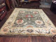 On Sale Genuine Hand Knotted Indo Oushak Geometric Area Rug Carpet 9andrsquo1andrdquox11andrsquo7andrdquo2