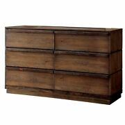 Minimal And Sophisticated Wooden Dresser, Rustic Natural Brown