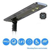 Ai Smart Solar Cree Led Street Area Light Outdoor Motion Activated 3200 Lumens